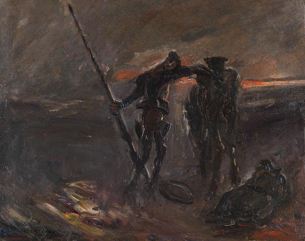 Max Slevogt - Don Quixote – Nachtwache (Don Quijote und Rosinante)