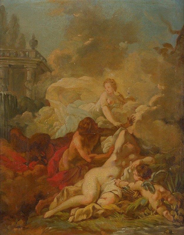 Circle Of François Boucher - Mythological Scene