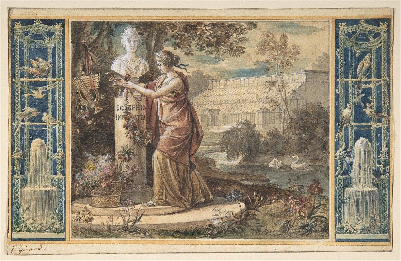François Gérard - An Allegory of Empress Josephine as Patroness of the Gardens at Malmaison