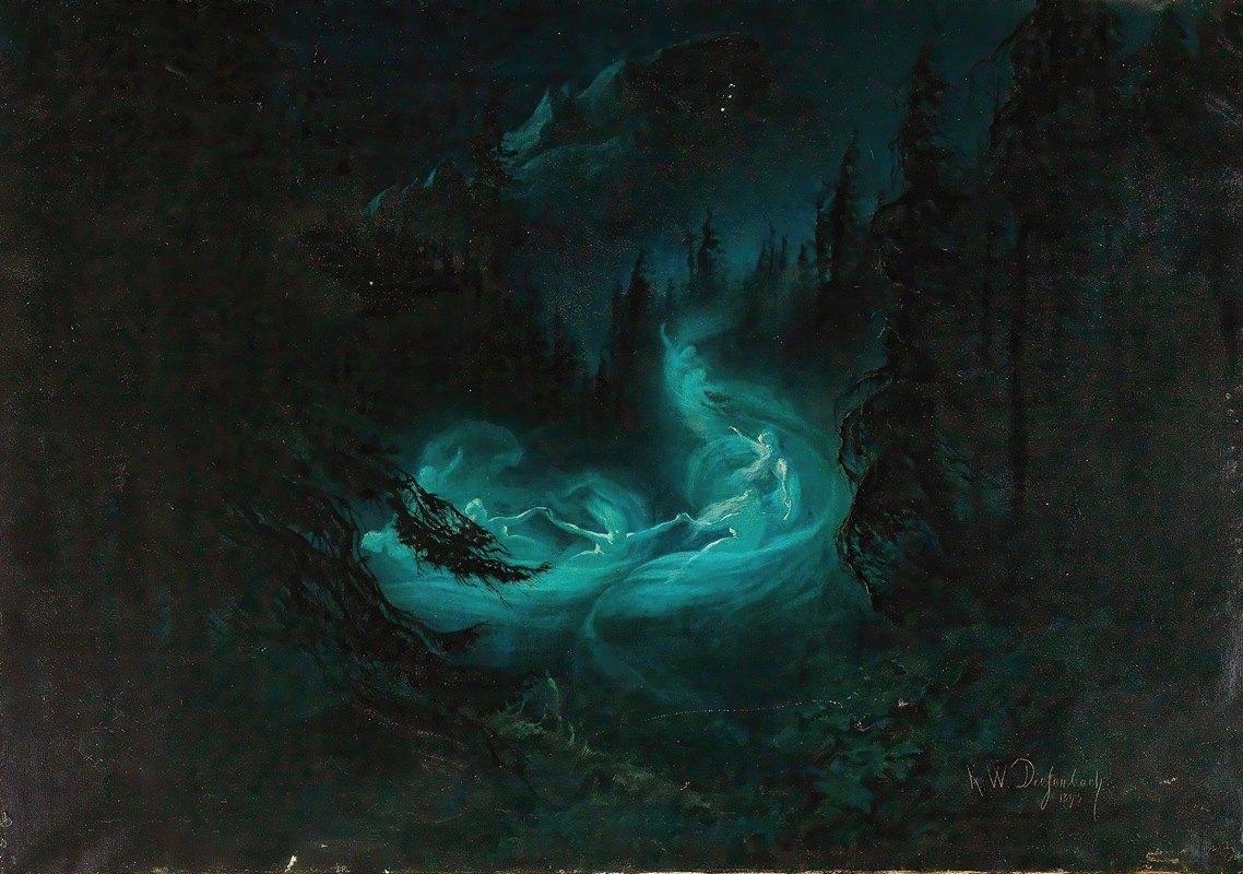 Karl Wilhelm Diefenbach - The Fairy Dance