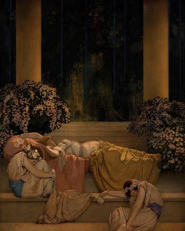 Maxfield Parrish - Sleeping Beauty in the Wood