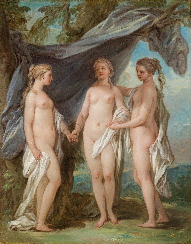 Charles-André van Loo - The Three Graces