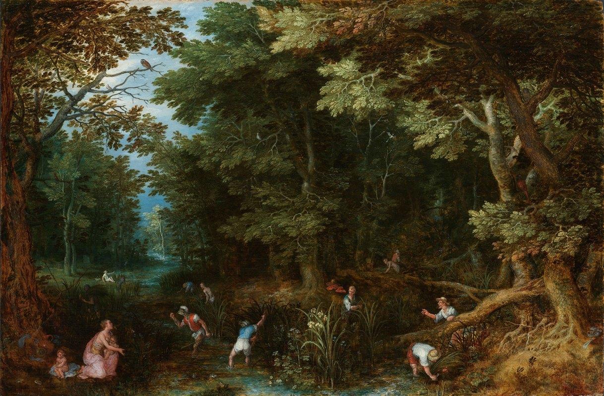 Jan Brueghel The Elder - Latona and the Lycian Peasants