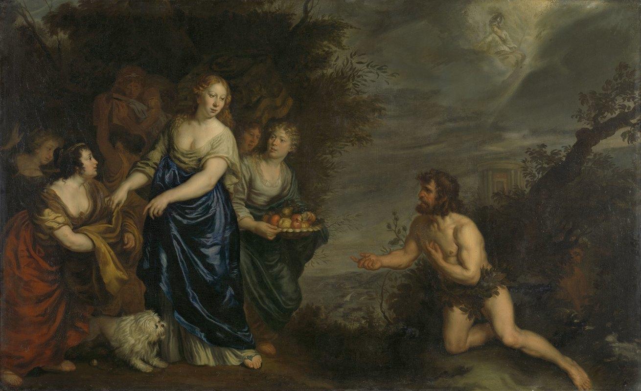 Joachim Von Sandrart - Odysseus and Nausicaa