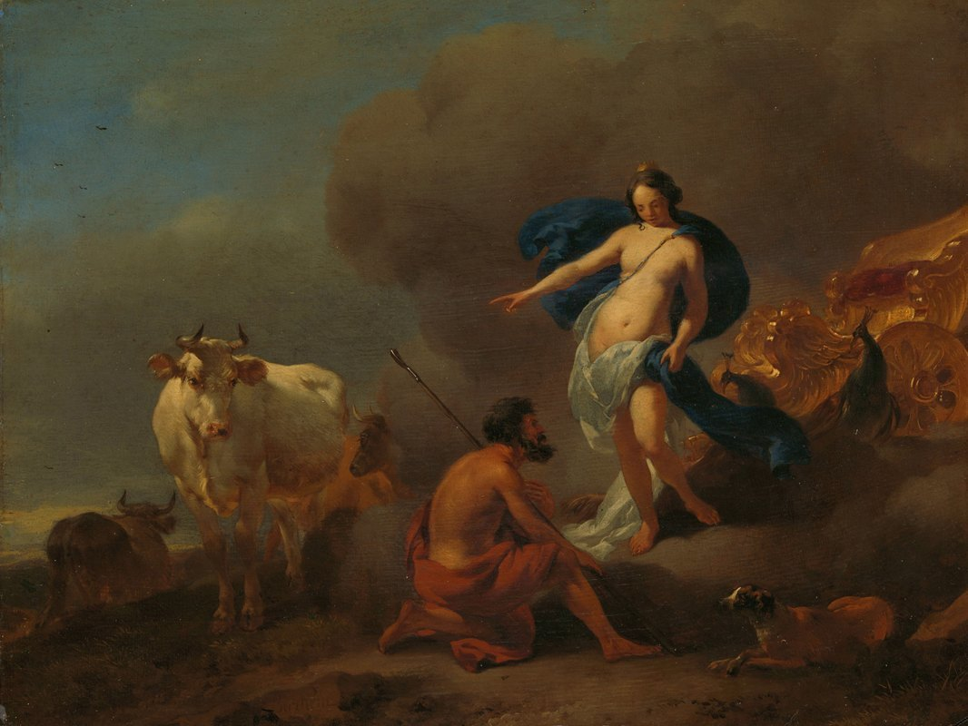Nicolaes Pietersz. Berchem - Juno Commanding Argus to Keep Watch on Io
