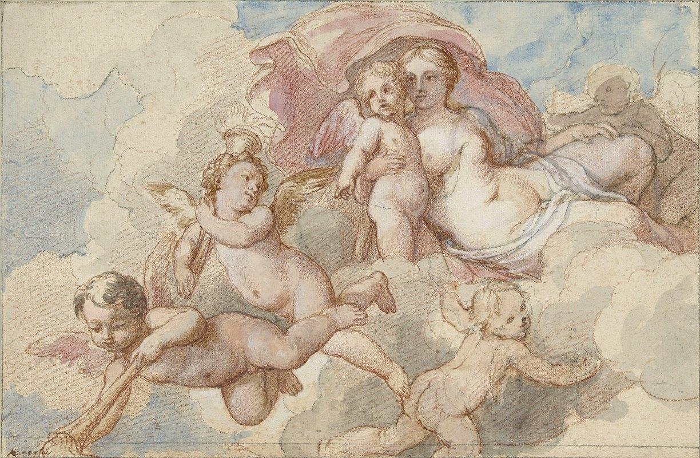 Charles-Joseph Natoire - Venus met Amor en putti