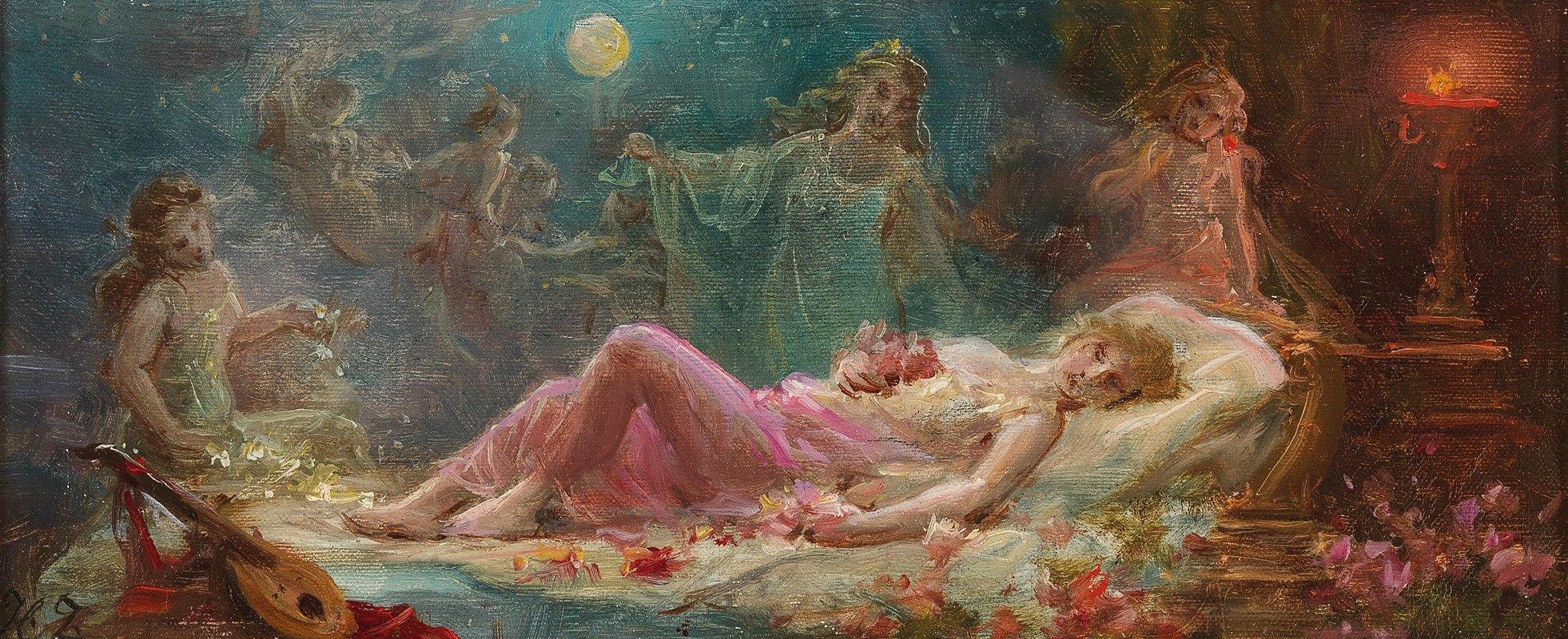 Hans Zatzka - Allegory of Sleep