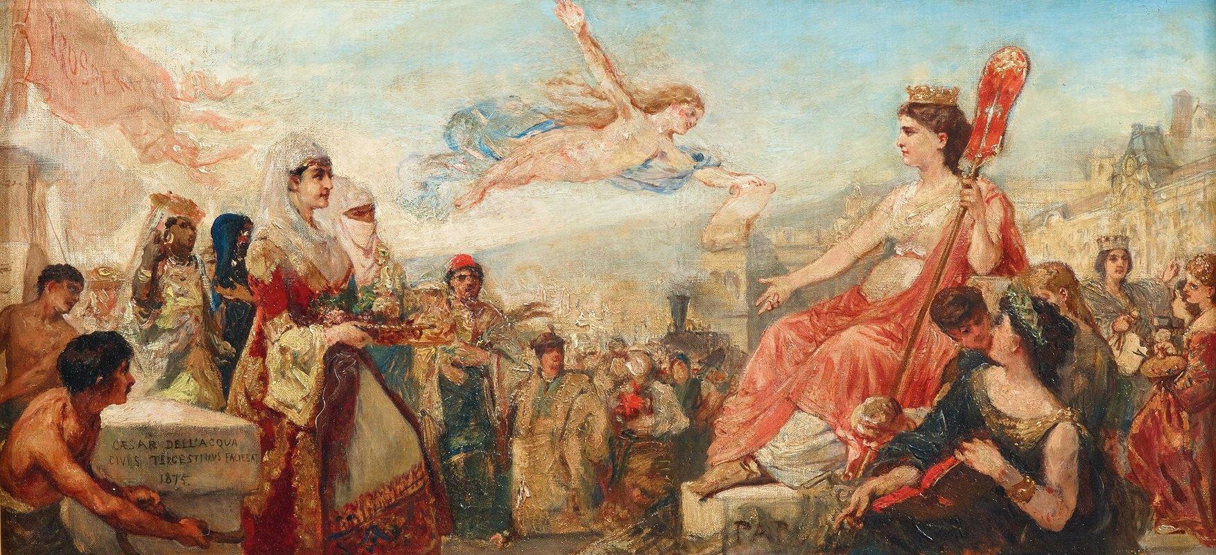 Cesare Dell'acqua - Triest allegory study