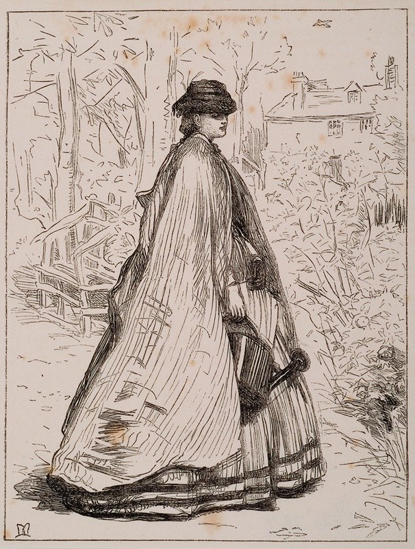 Sir John Everett Millais - O the Lark is Singing in the Sky