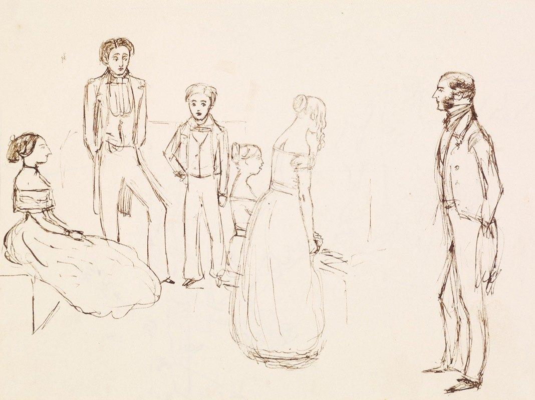 Sir John Everett Millais - Sketch of an Evening Party