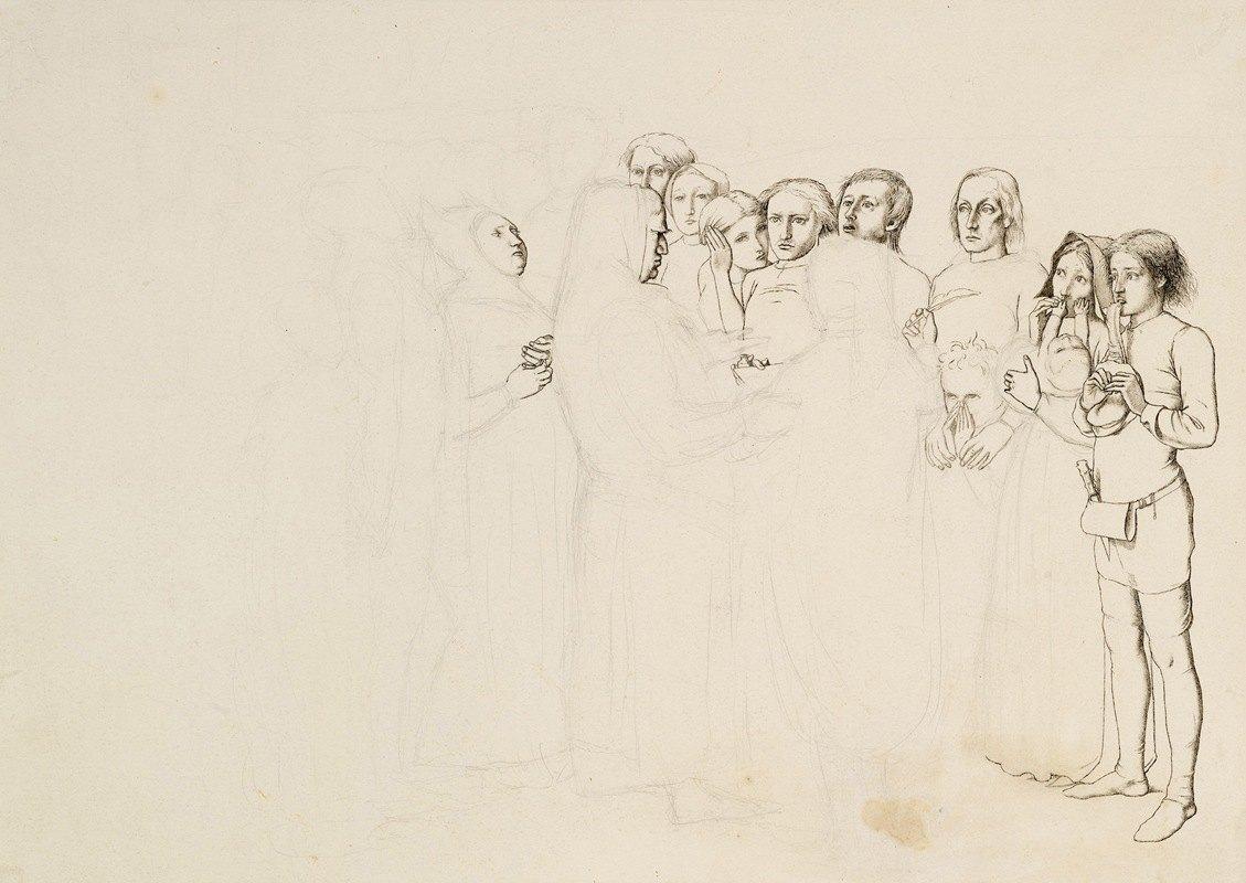 Sir John Everett Millais - Study for 'A Baron Numbering his Vassals'