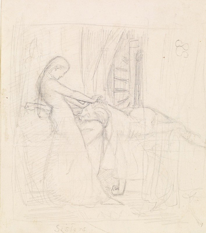Sir John Everett Millais - Tennyson's The Sisters – Figure Sketch