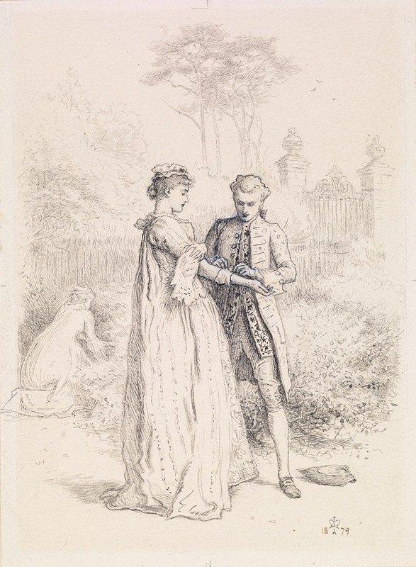 Sir John Everett Millais - Thackeray's Barry Lyndon – Barry Lyndon's First Love