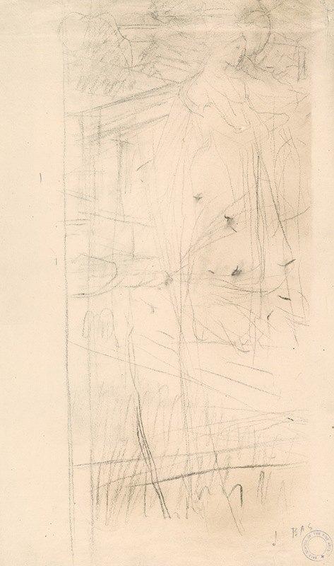 Jules Bastien-Lepage - Study for 'Joan of Arc'