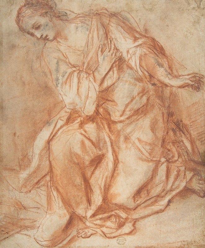 Mattia Preti - Kneeling Woman