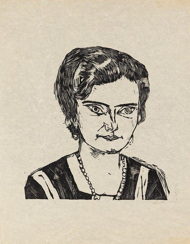 Max Beckmann - Bildnis Frau H.M. (Naila)