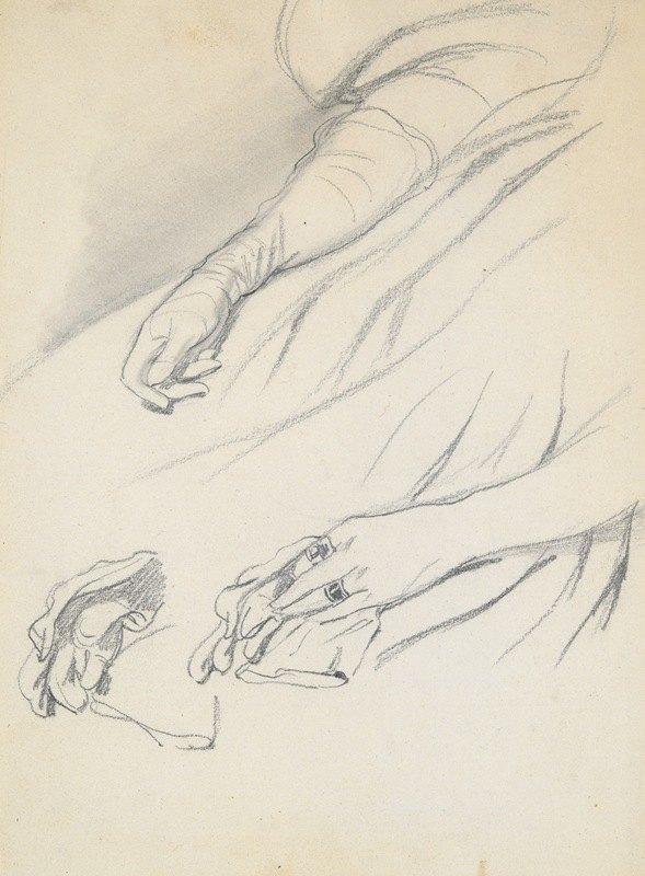 Paul Gavarni - Studies ofHands