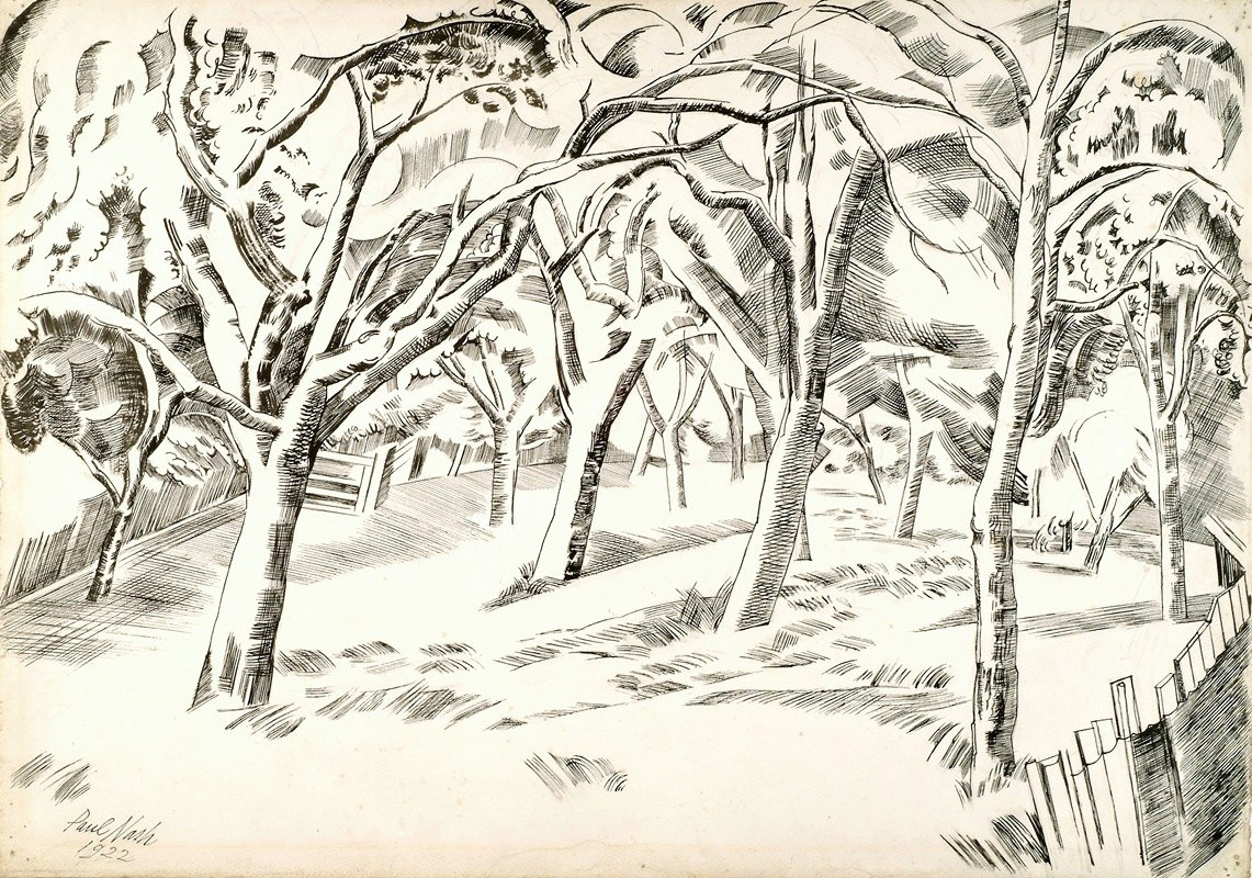 Paul Nash - The Orchard