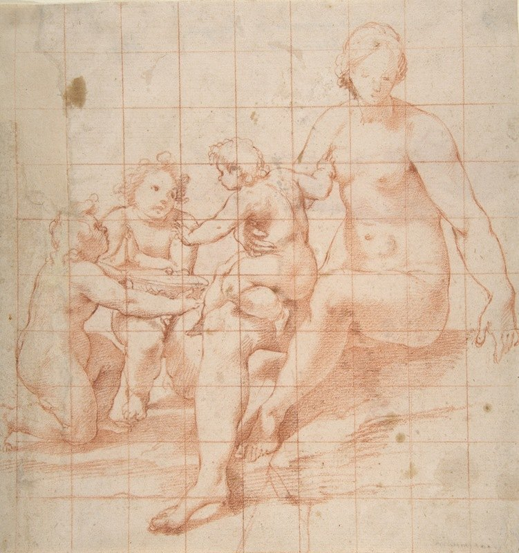 Poppi (Francesco Morandini) - Study for a Virgin and Child with Two Angels
