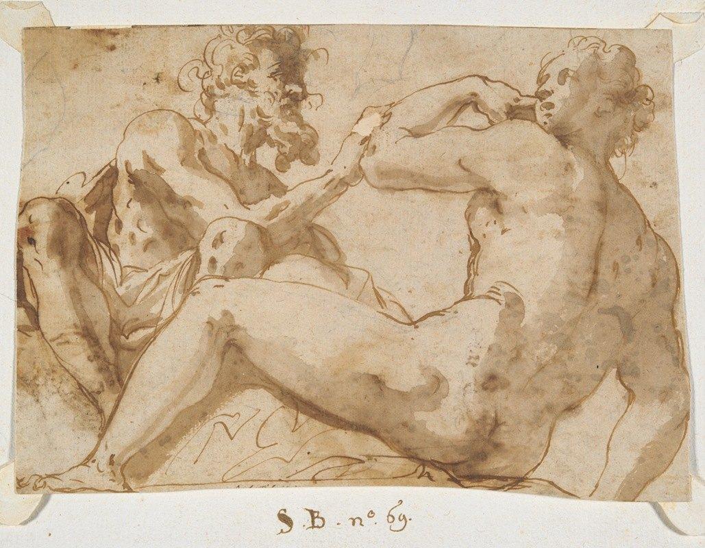 Prospero Fontana - Studies for Recumbent AllegoricalFigures