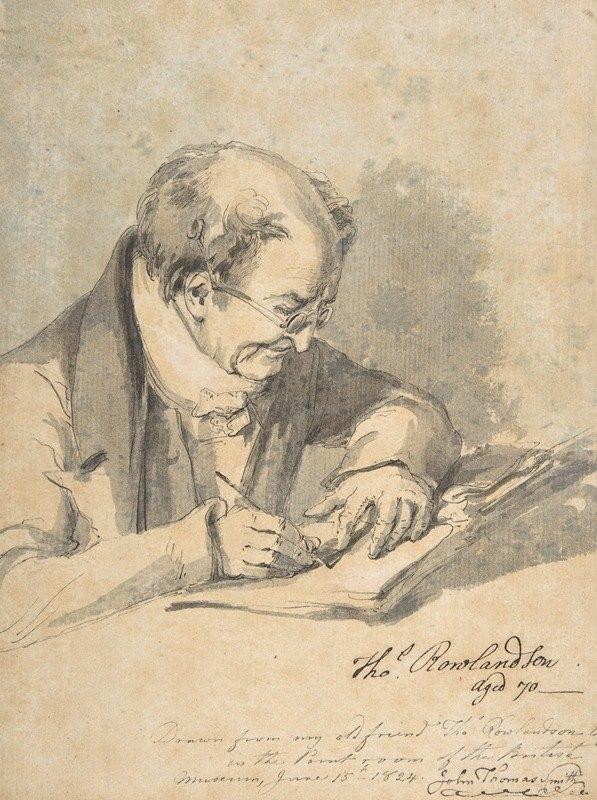 John Thomas 'Antiquity' Smith - Thomas Rowlandson, aged 70