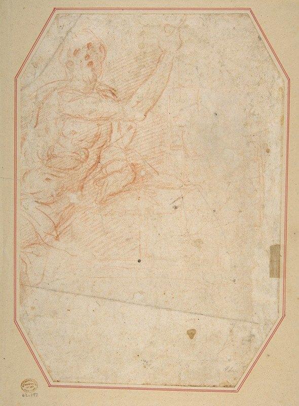 Cristoforo Roncalli - Male Figure with Upraised Arm