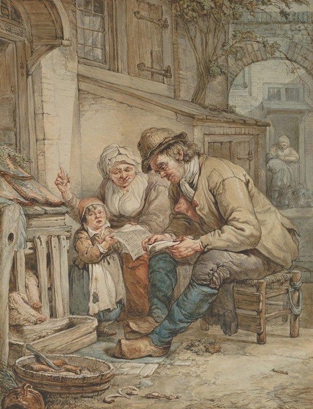 Abraham Van Strij - Parents Teaching Their Daughter a Song