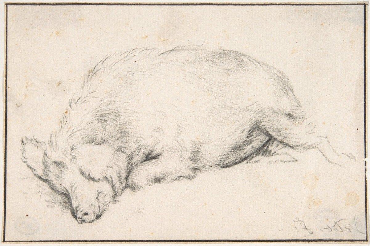 Adriaen van de Velde - A Sleeping Swine