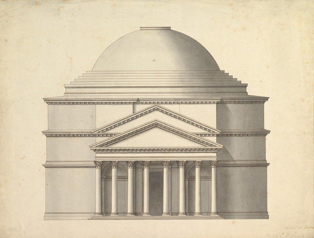 Antonio Maria Visentini - Facade of a Rotunda