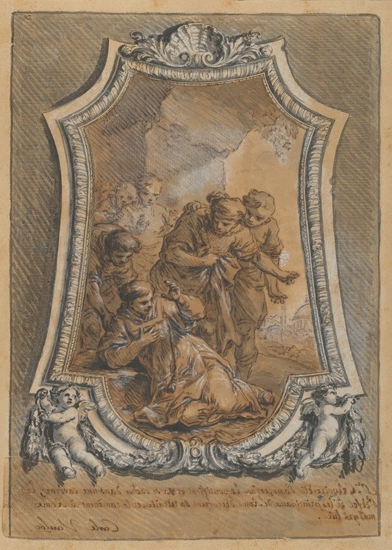 Charles-André van Loo - St. Gregory Reluctant to Accept His Election as Bishop of Rome