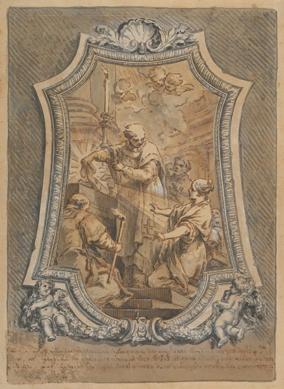 Charles-André van Loo - The Mass of St. Gregory