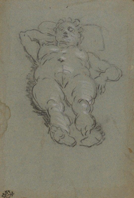 Domenico Tintoretto - Reclining Female Nude.