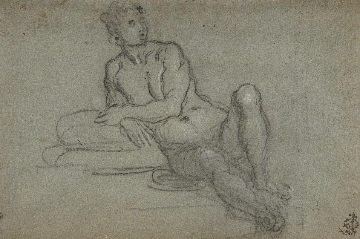 Domenico Tintoretto - Reclining Female Nude Figure