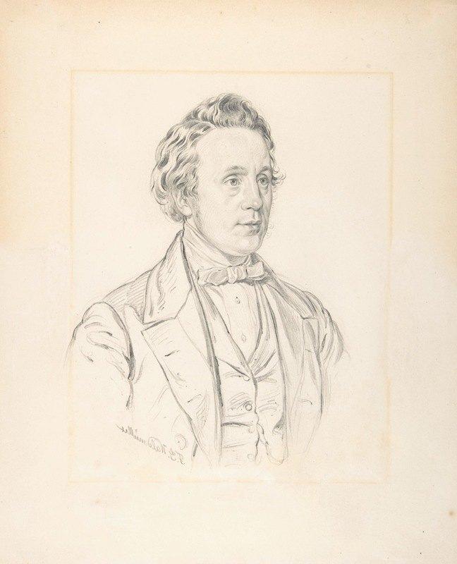 Ferdinand Georg Waldmüller - Portrait of Franz Jauner (Vienna 1832-1900 Vienna), Theater Director and Actor in Vienna