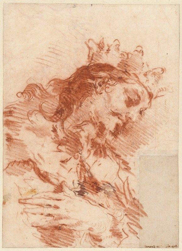 Giovanni Antonio Guardi - Half Length Figure of a Magi