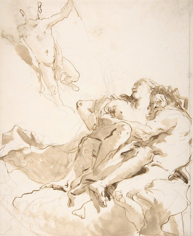Giovanni Battista Tiepolo - Mercury Appearing to a Marine Deity and a Nymph