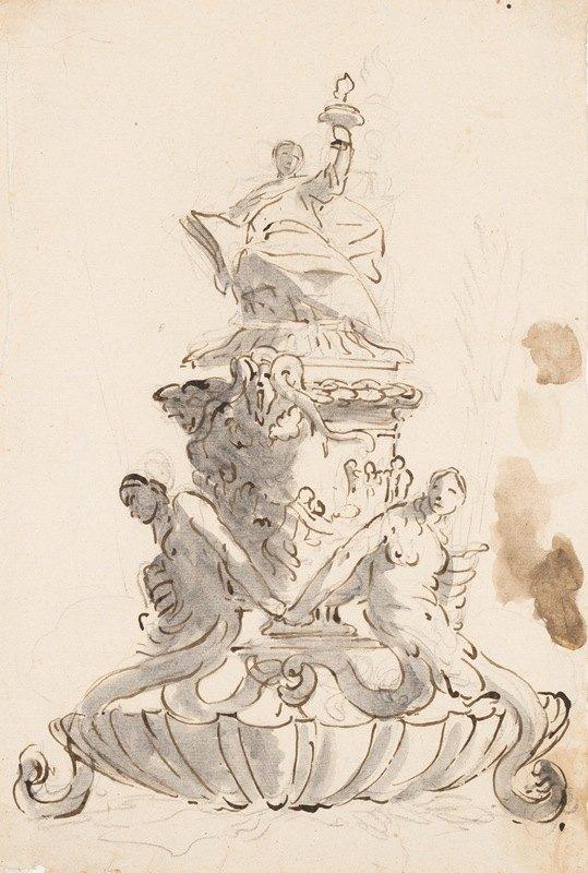 Giovanni Battista Tiepolo - Study for an Inkstand