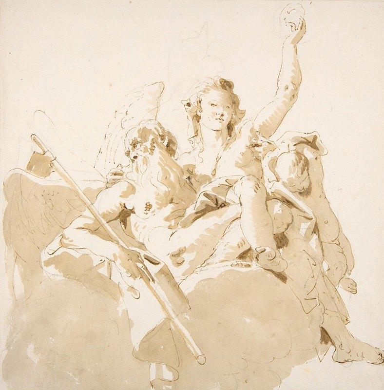 Giovanni Battista Tiepolo - Time and Truth.