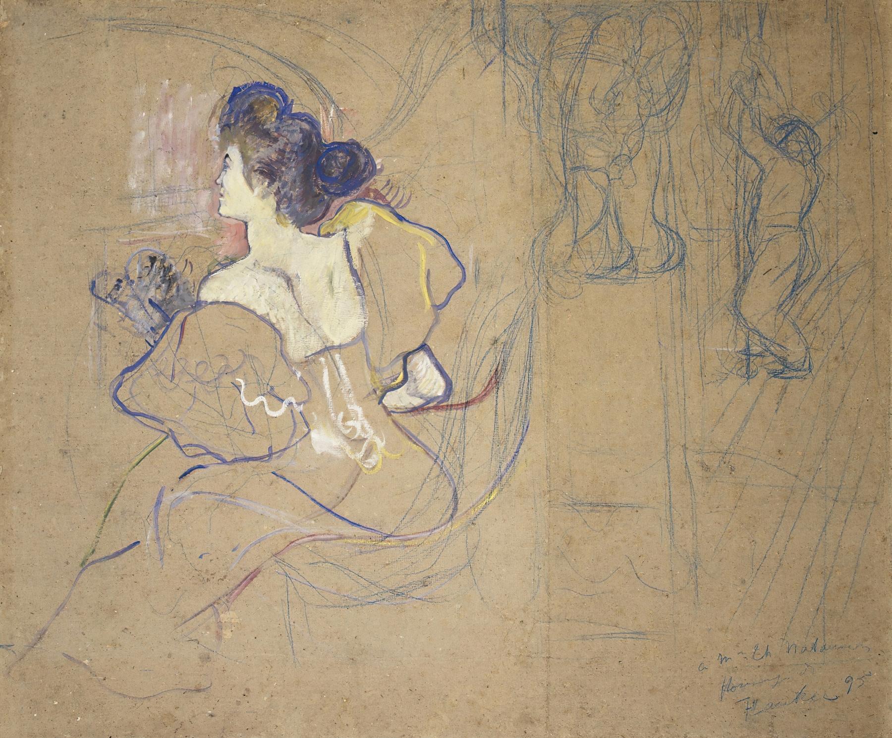 Henri de Toulouse-Lautrec - Madame Thadée Natanson (Misia Godebska, 1872–1950) at the Theater