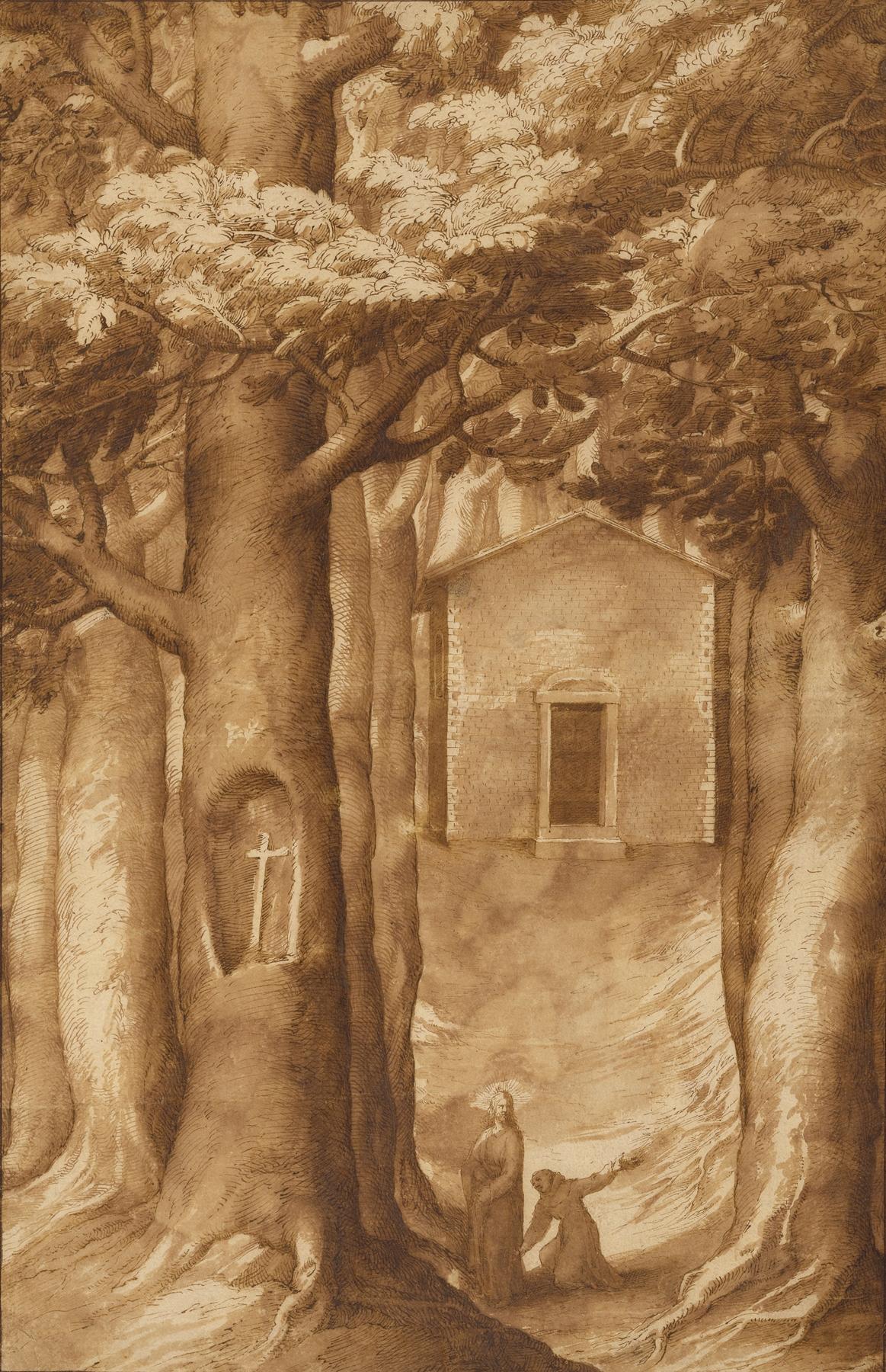 Jacopo Ligozzi - La Verna; The Chapel of the Blessed Giovanni della Verna
