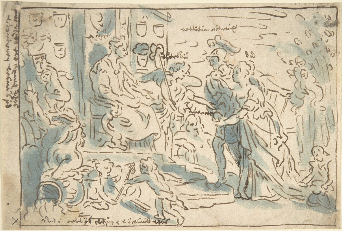 Theodoor van Thulden - Compositional Sketch forThe Request for Admission into the Union