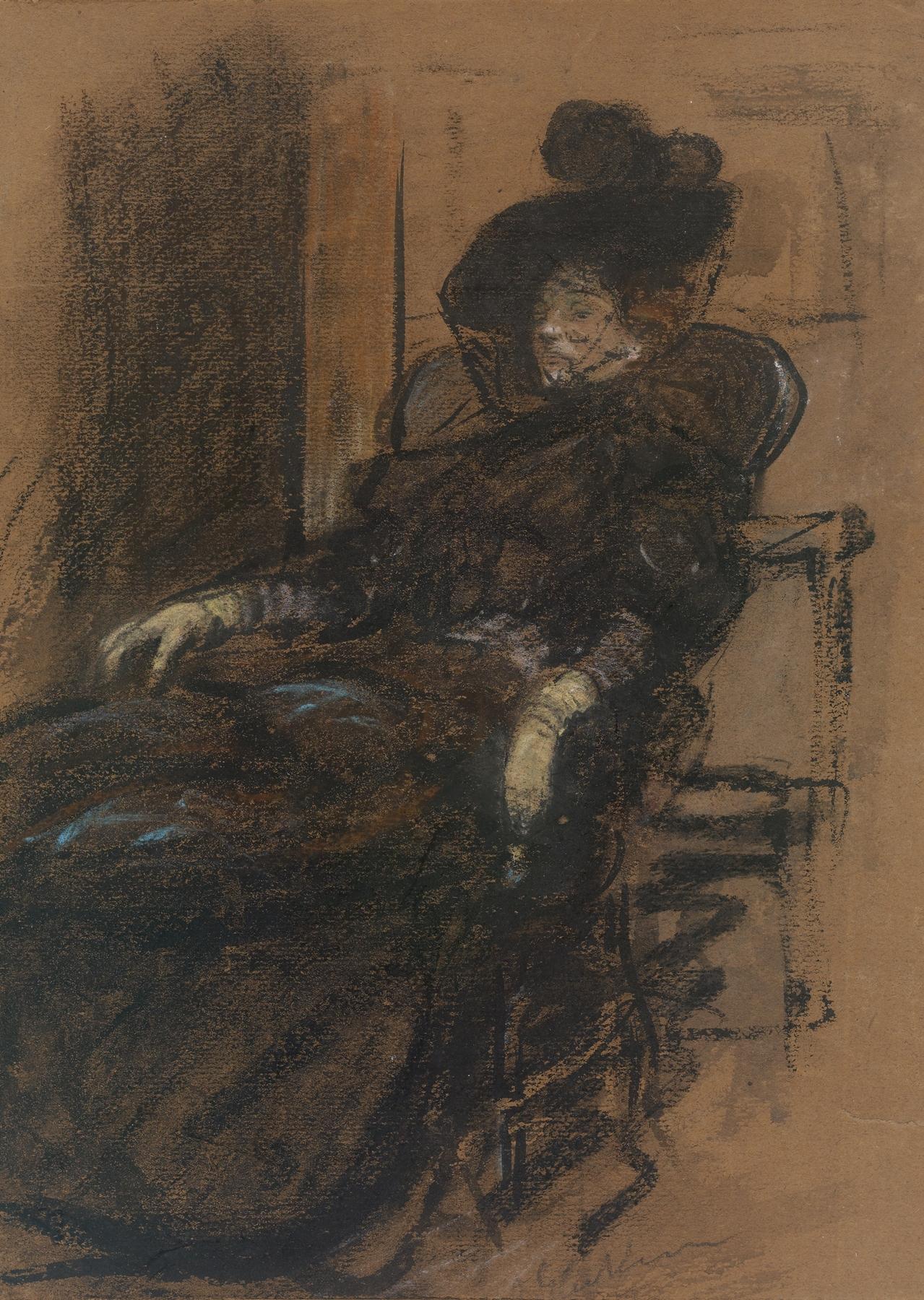 William James Glackens - SeatedWoman
