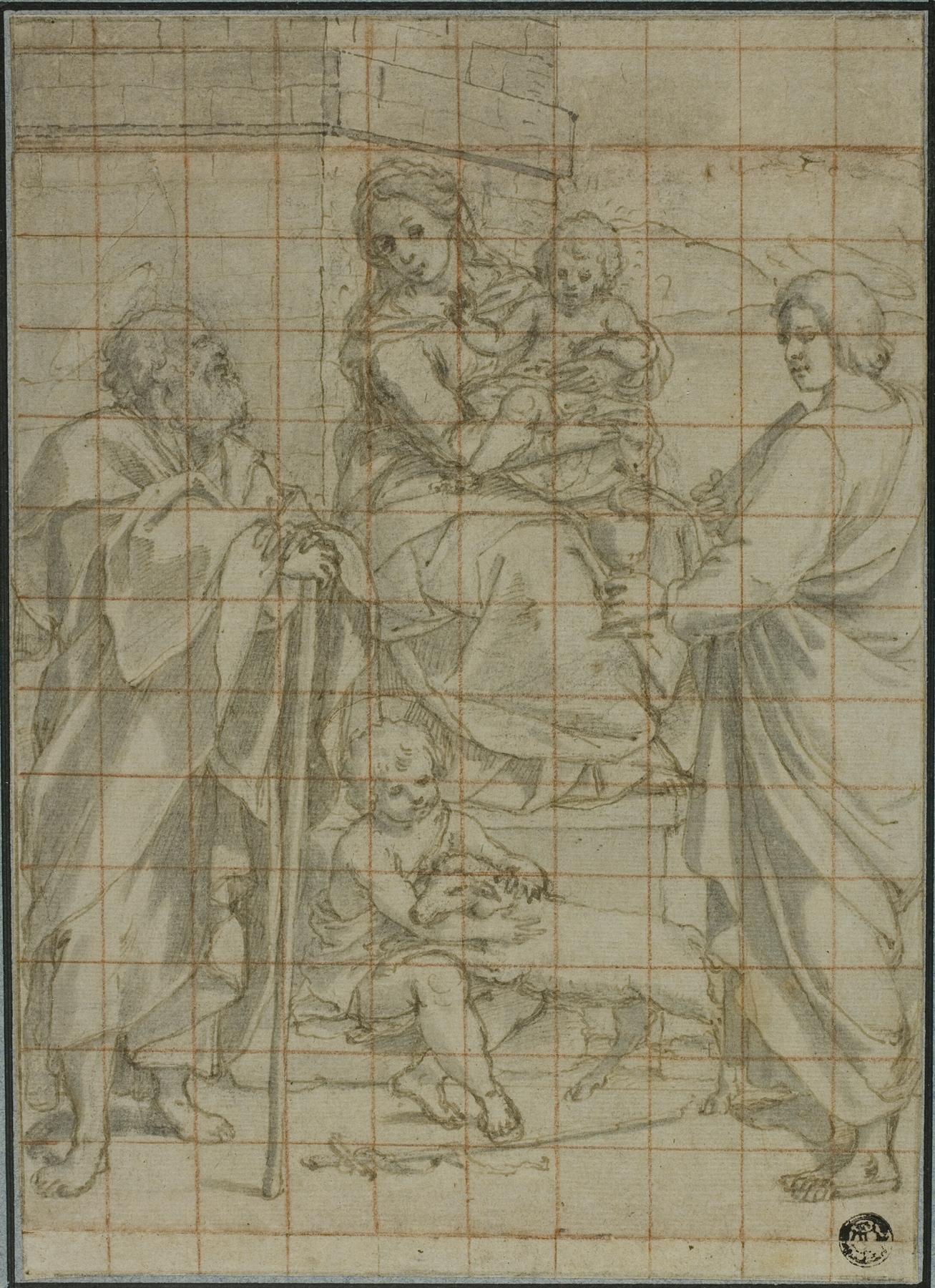 Bartolomeo Cesi - Holy Family with Saint John the Evangelist and the Infant John the Baptist