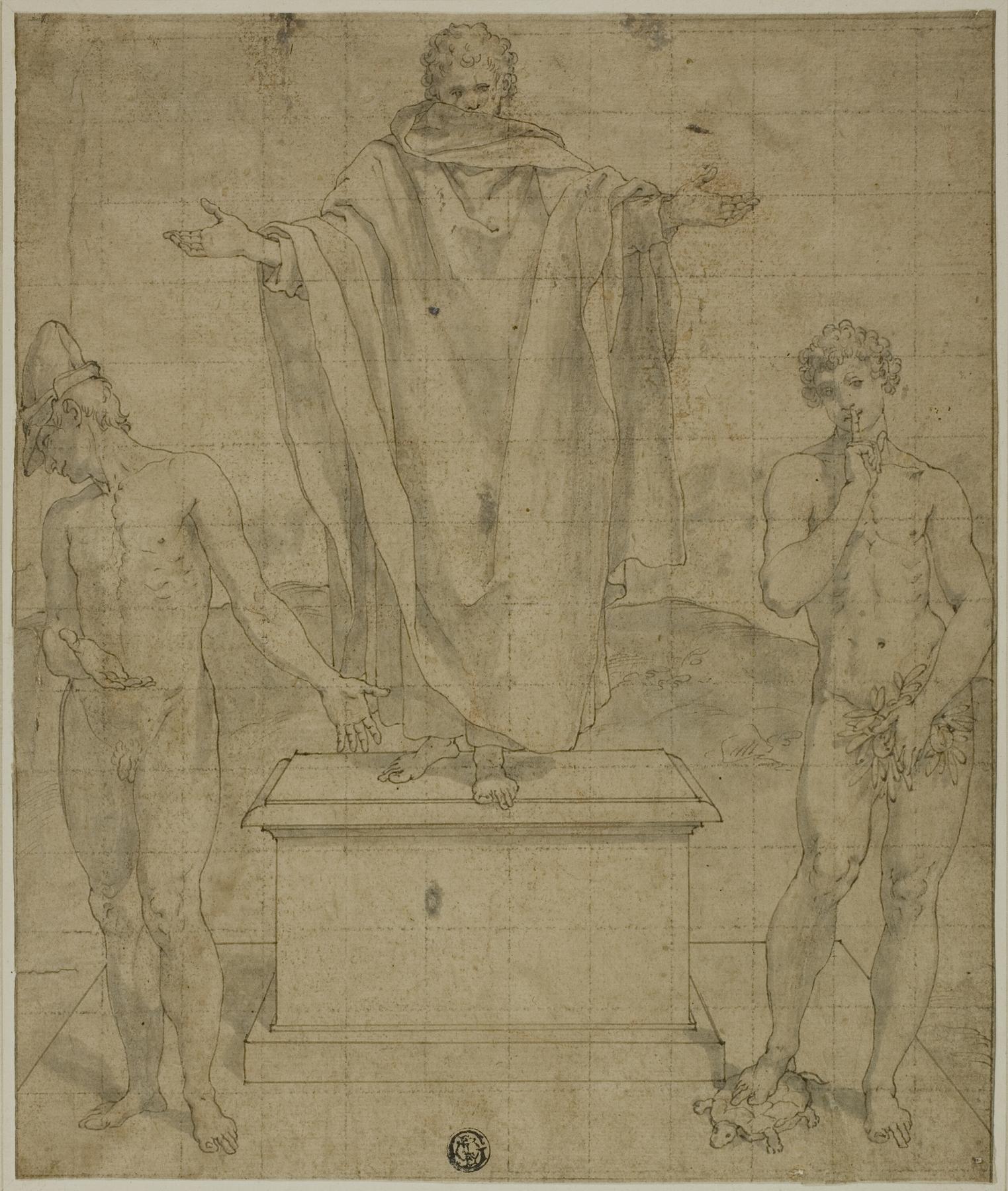 Bartolomeo Cesi - Study for Allegory of Faith and Silence