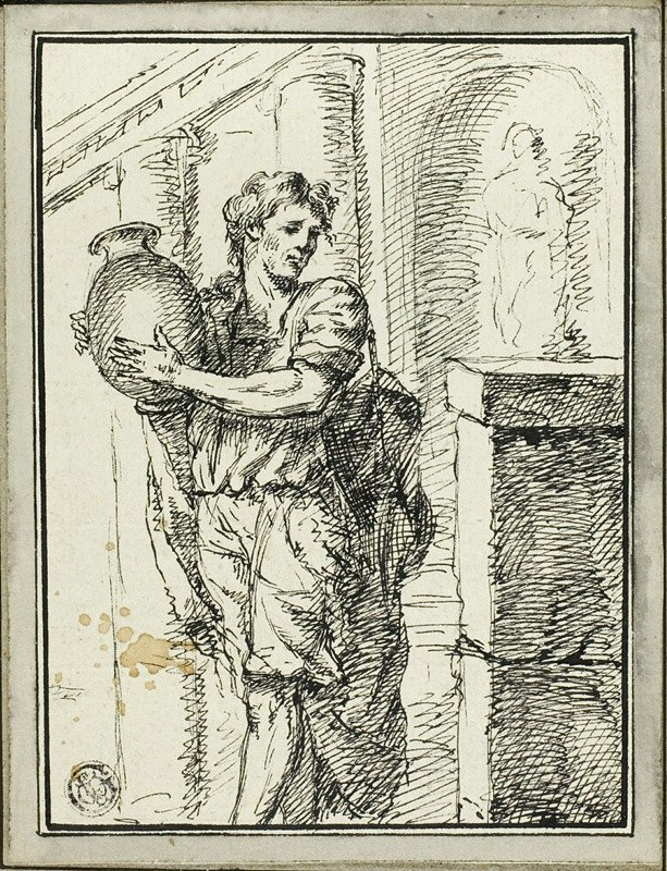 David-Pierre Giottino Humbert de Superville - Man Holding Jar
