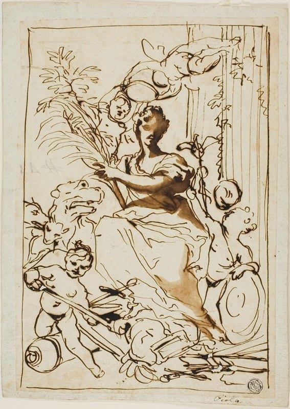 Domenico Piola - Allegory of Victory