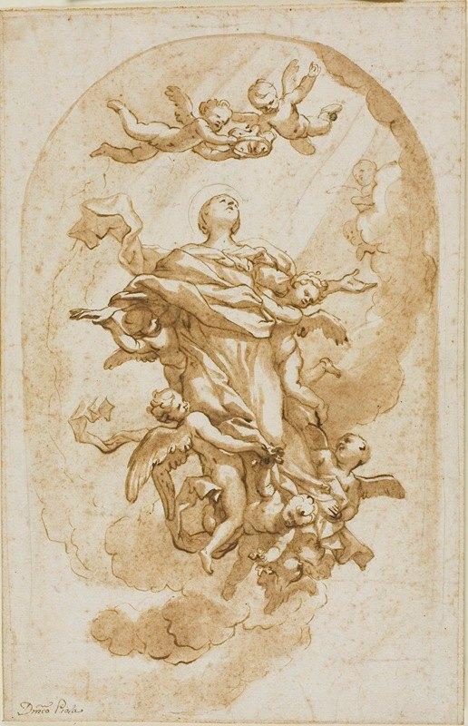 Domenico Piola - Assumption of the Virgin