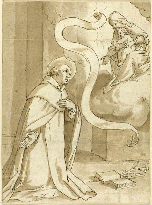 Domenico Piola - Vision of Saint Dominic