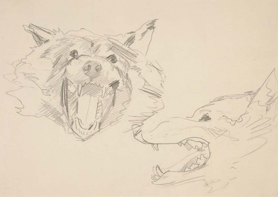 John Singer Sargent - Two Views of a Wolf'sHead