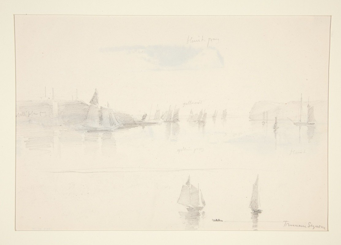 Truman Seymour - Sailboats in a Bay